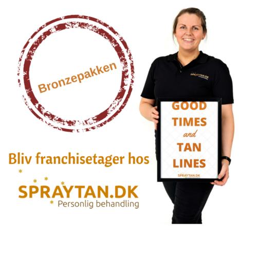 Bronzepakken - Køb dig ind i Spraytan.dk og bliv franchisetager.