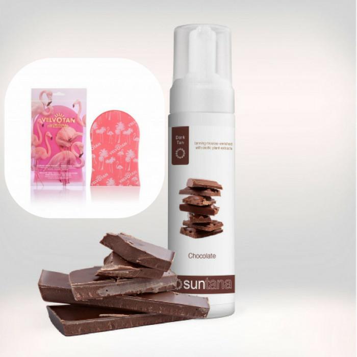 MØRK selvbruner skum - 200 ml inkl. Velvotan™ Påføringshandske