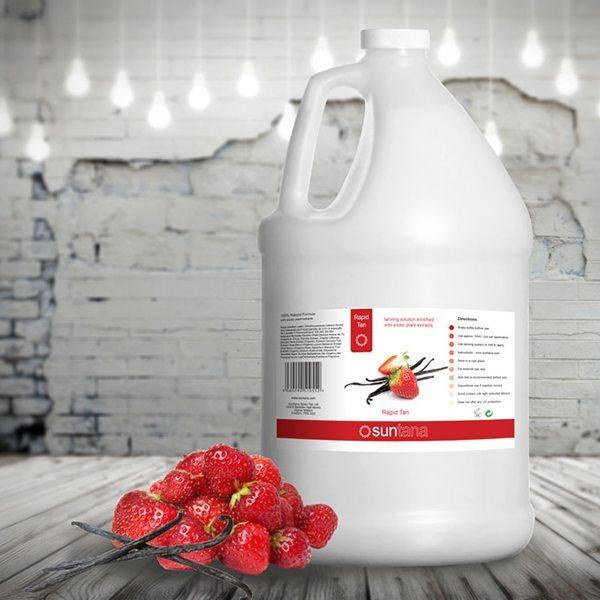 Rapid Tan væske med lækker duft af jordbær/vanille