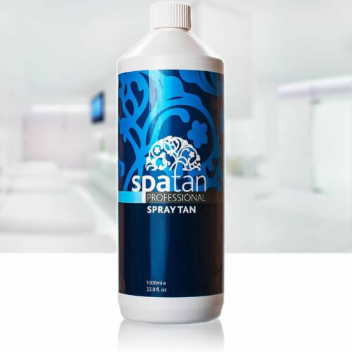 Spatan - MØRK - Parfumefri 12 % DHA - 1 Liter - Parfumefri Væske