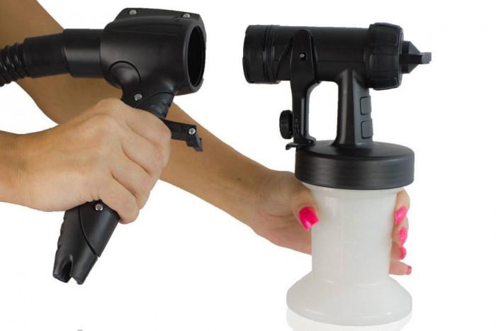 Spray gun twistes af